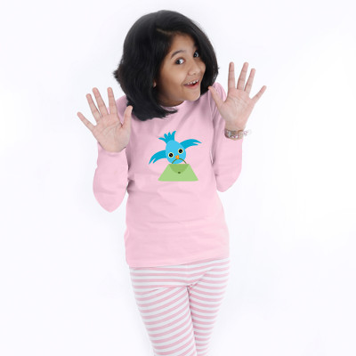 Pink Full Sleeve Girls Pyjama - Tweeter